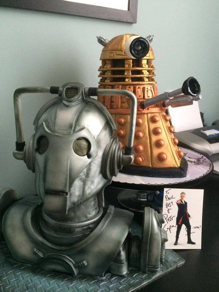 Cyber Man and Dalek 3D Cakes : Paul Williams Happy Occasion Cakes