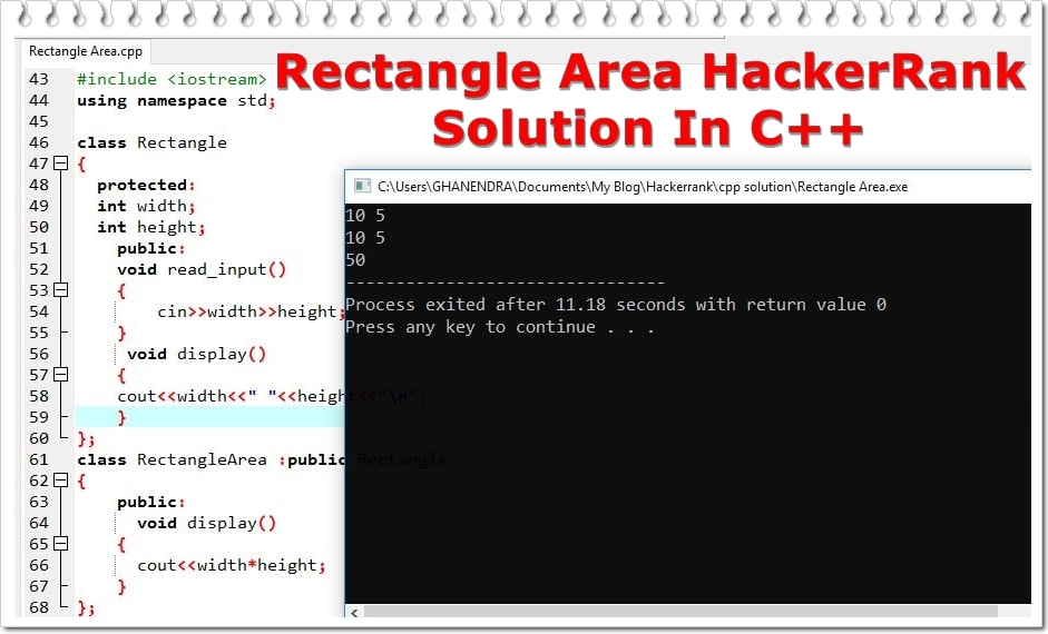 Rectangle Area Solutions HackerRank
