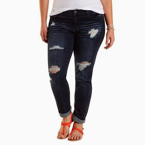 Plus Size Refuge Boyfriend Cropped Jeans