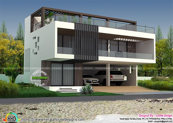 house with terrace swimming pool kerala home design and