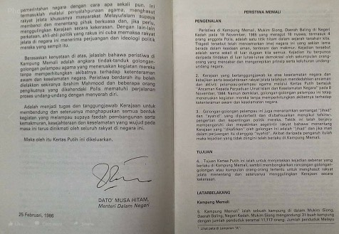 Kisah Benar Tragedi Memali, Tun Mahathir Tidak Terlibat