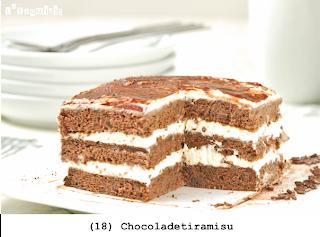 Mijn versie van tiramisu, met chocolade cake