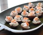 Potato Bites with Smoked Salmon