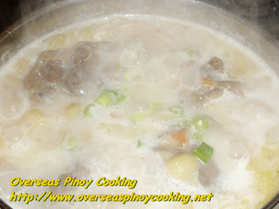 Oxtail Sopas - Cooking Procedure