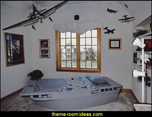 military theme bedrooms - military bedroom decorating ideas - navy - marines - army