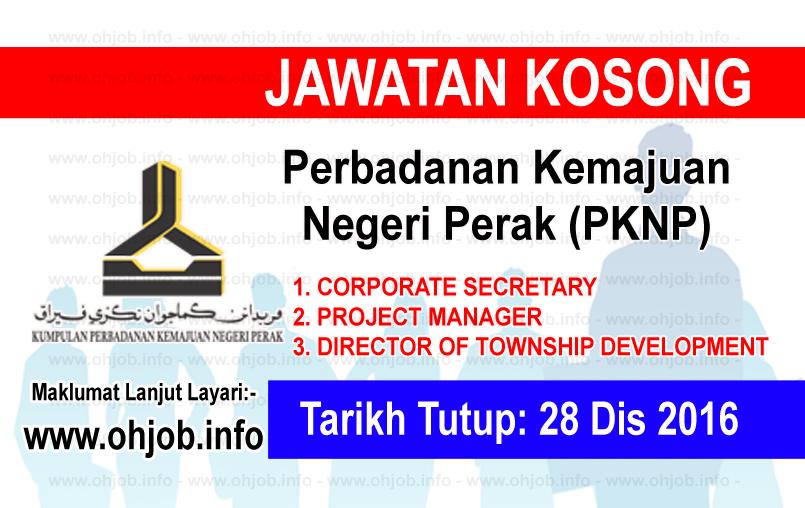 Jawatan Kerja Kosong Perbadanan Kemajuan Negeri Perak (PKNP) logo www.ohjob.info disember 2016