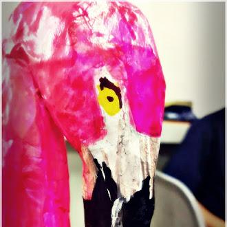 Cleo der Flamingo