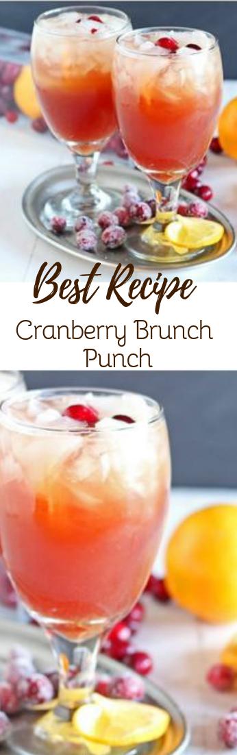 Cranberry Brunch Punch #healthydrink #easyrecipe
