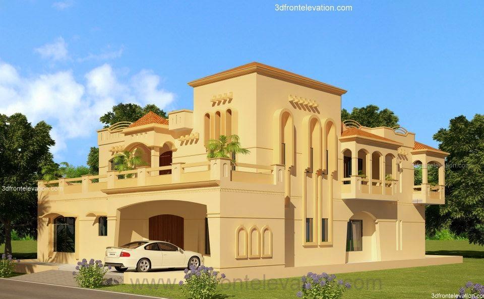 Front Elevation Of 2 Kanal Houses : D front elevation portfolio