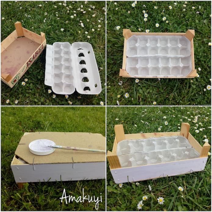 Proceso para hacer un semillero en hueveras de cartón