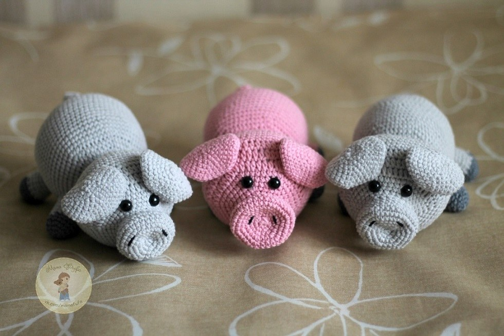 Свинки амигуруми вязаные игрушки крючком
