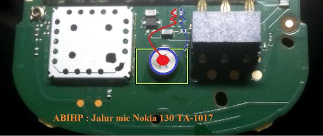 Cek jalur mic dari Nokia 130 ta-1017.