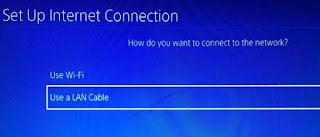 PS4 LAN settings