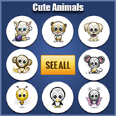 Cute Animals Emoticons for Facebook