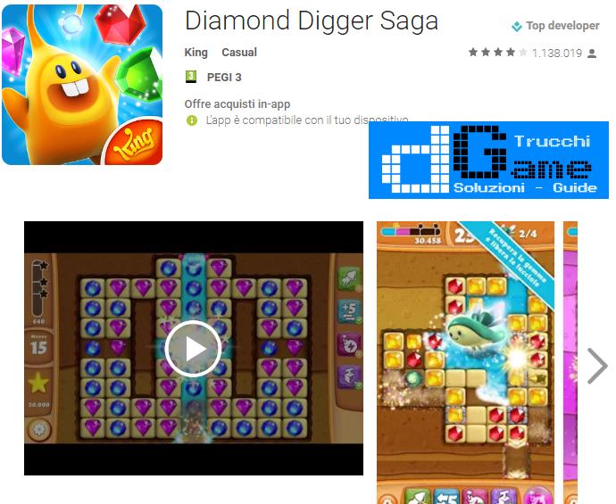 Trucchi Diamond Digger Saga Mod Apk Android v2.9.0