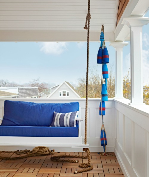 Buoy Garland on Porch