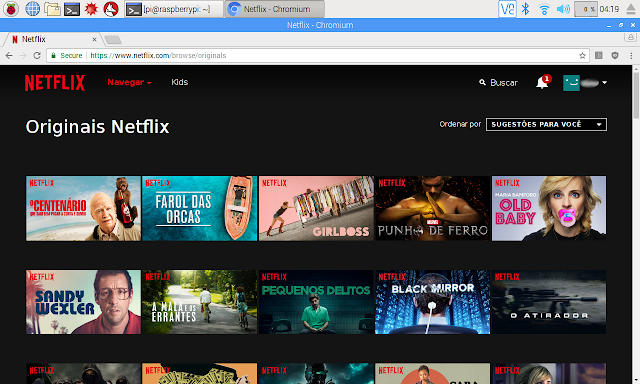 Netflix no Raspberry Pi 3