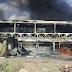 Ônibus da Falcão Real pega fogo no distrito de Poço de Fora, em Curuçá