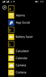 Lumia 630 app list