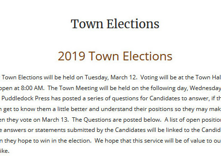 Farmington Town Elections March 12th, 8AM-7PM