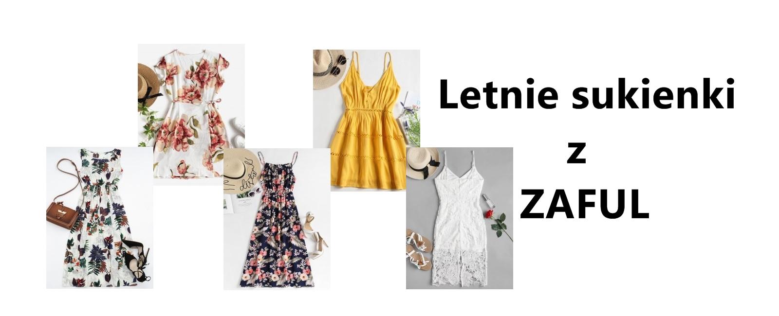 Letnie sukienki z ZAFUL