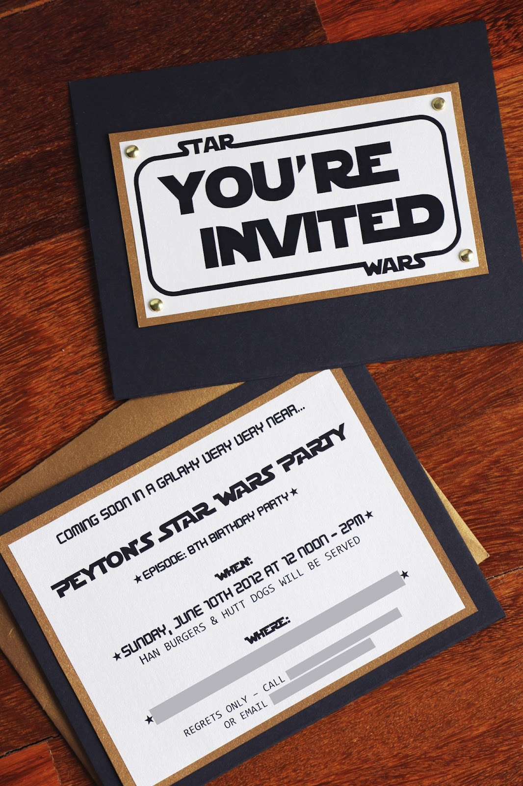 The Contemplative Creative Star Wars Party Invitation