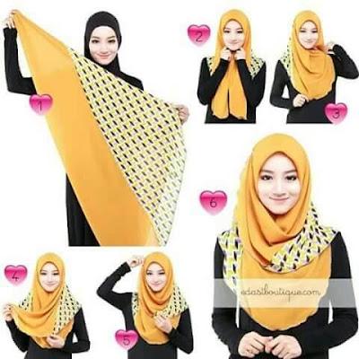 Tutorial Hijab Segitiga Biasa Untuk ke Kantor Gambar Step By Step