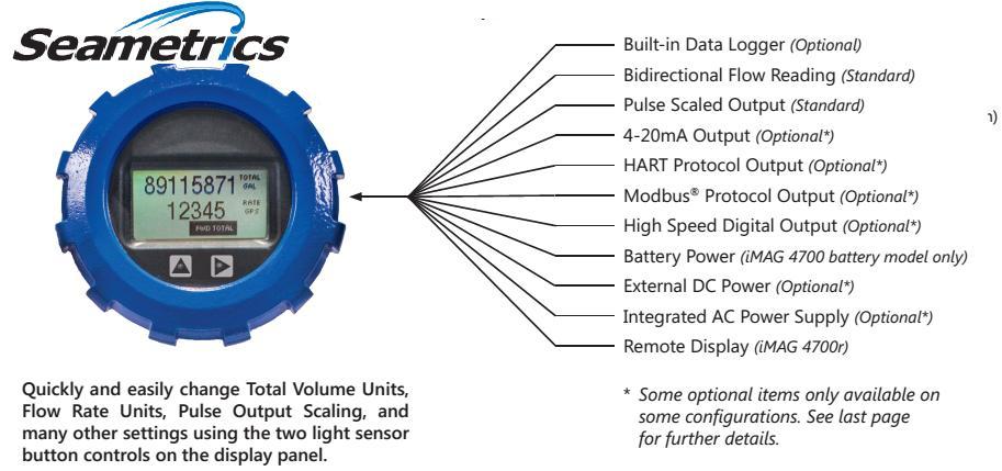 Feature elektromagnetik flow meter
