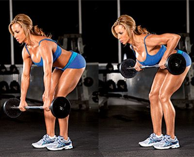 Reduce Back Fat Fast For Women- Bent Over Barbell Row