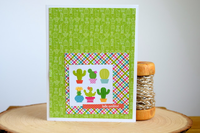 Summer Card by Jess Gerstner using Doodlebug Fun in the Sun 6x6 Paper Pad