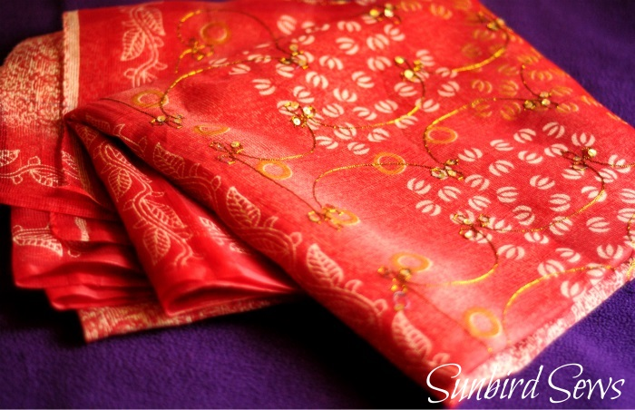 Convert indian cotton saree to dress pallu design kota cotton sari refashioning upcycle