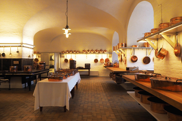 Cuisine du château de Christiansborg à Copenhague