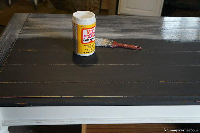 Modge Podge To Seal Chalk Paint
