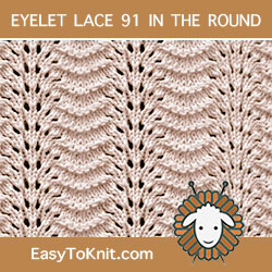 EasyToKnit - Old Shale Lace Knitting in the round, super easy, quick knit