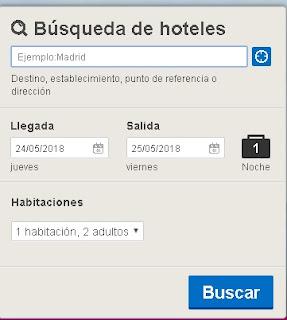 Buscador de hoteles con etiquetado WAI-ARIA
