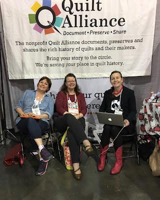 quiltcon 2017 savannah georgia cause quilt alliance volunteer frances dowell pamela cobb