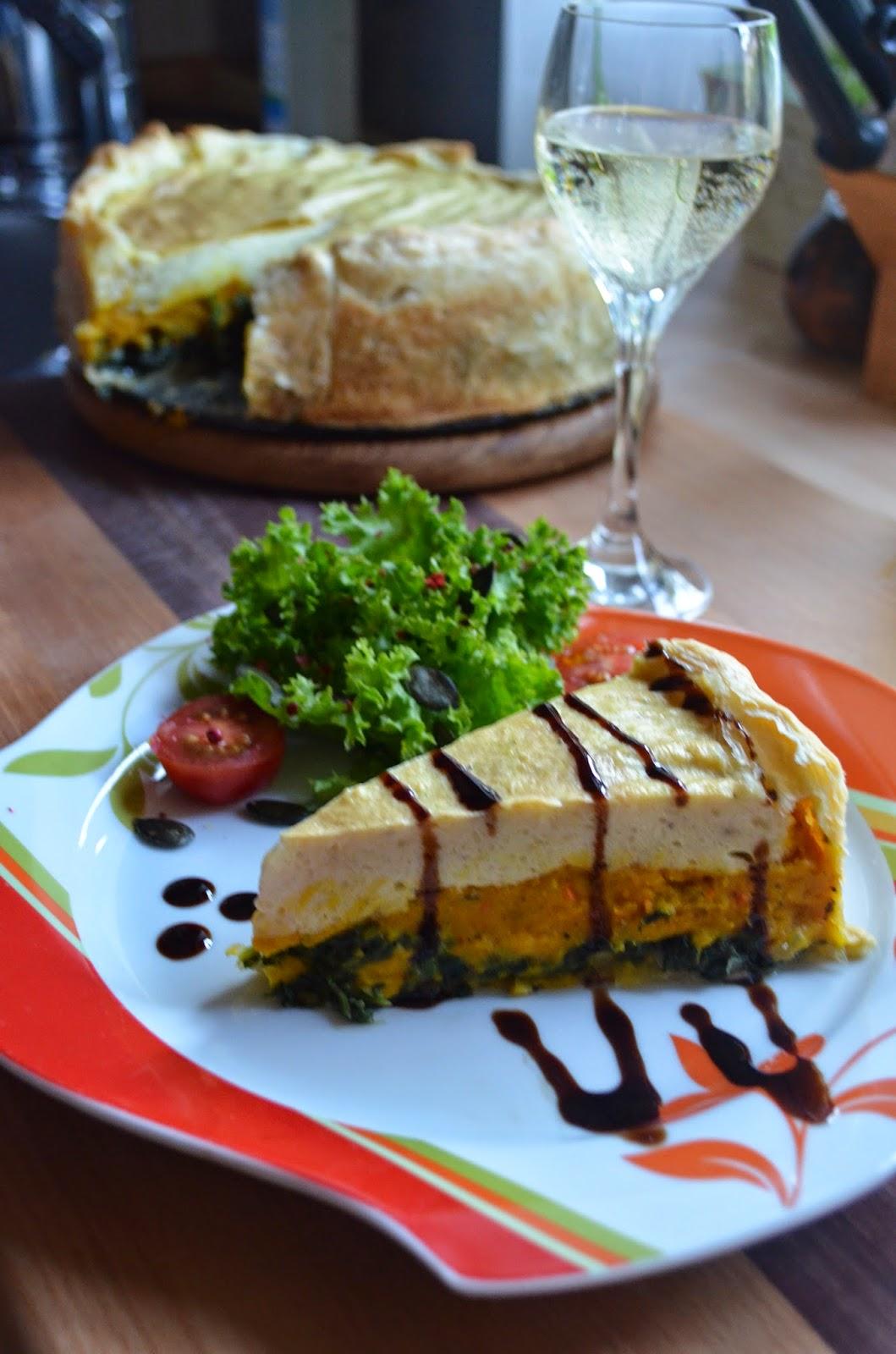vegan cooking k rbis spinat quiche. Black Bedroom Furniture Sets. Home Design Ideas