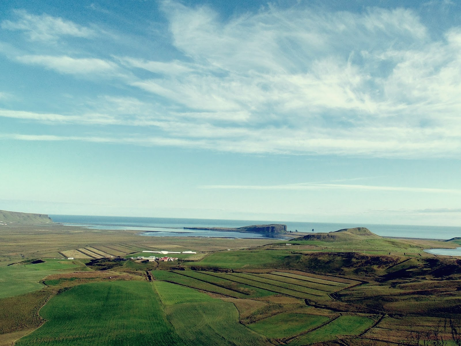 Islandia, odludzie, krajobraz, zieleń, pola, łąki, ocean, niebo, panidorcia, Pani Dorcia, praca w Islandii