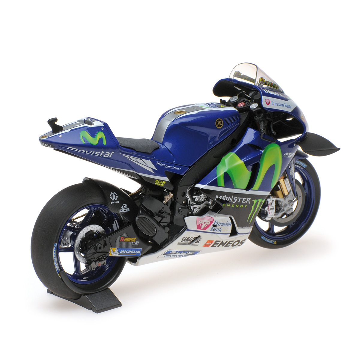 racing scale models yamaha yzr m1 valentino rossi 2016 pcs by minichamps. Black Bedroom Furniture Sets. Home Design Ideas