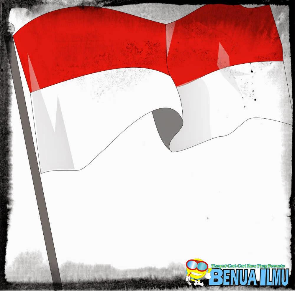 Gambar Bendera Merah Putih Kartun Hitam Putih Terlengkap Cikimm Com
