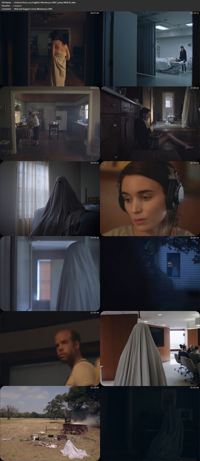 A Ghost Story 2017 Hollywood 300MB Movie WEB DL 480p at movies500.site
