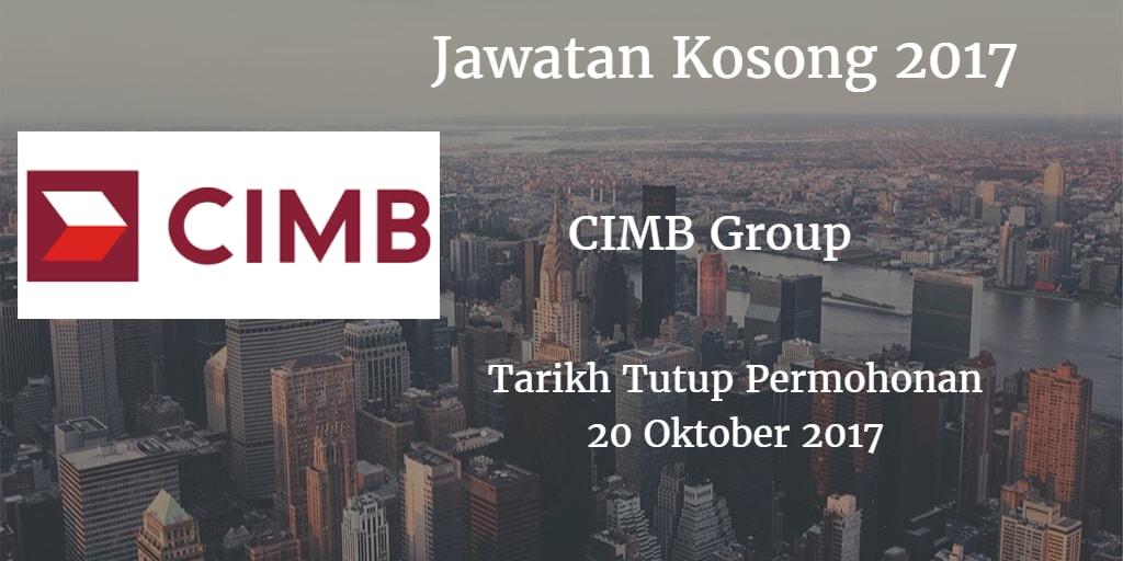 Jawatan Kosong CIMB Group 20 Oktober 2017