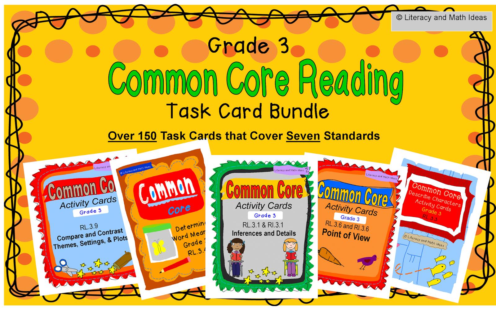 Literacy Amp Math Ideas Third Grade Common Core Reading