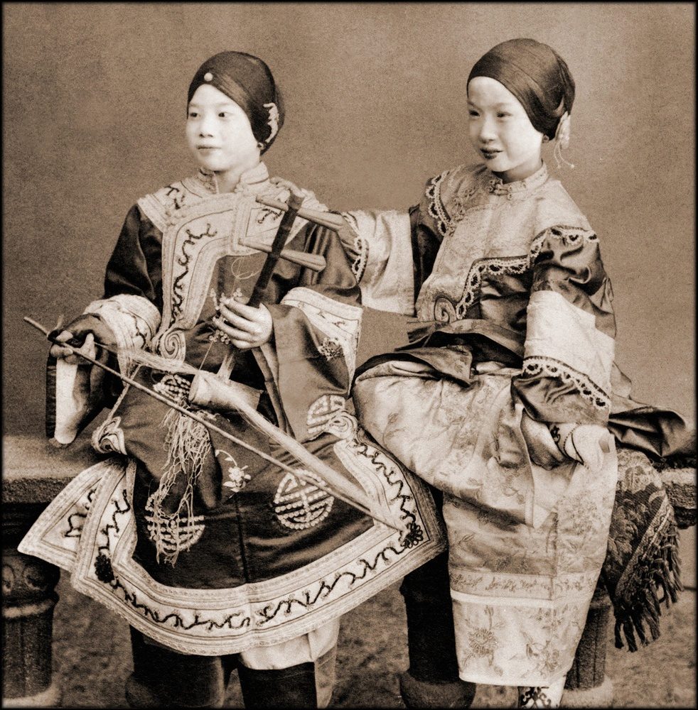 Vintage Photography Singing Girls, Hong Kong, China By -5310