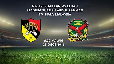 Negeri Sembilan Vs Kedah 28 Ogos 2016