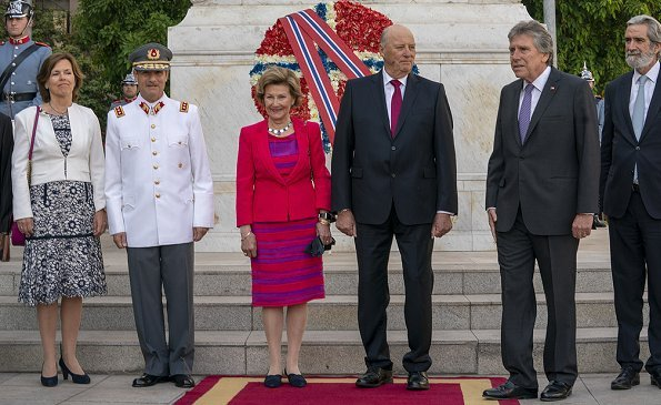 King Harald and Queen Sonja met with President Sebastián Piñera Echenique and First Lady Cecilia Morel de Piñera