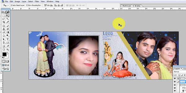 How To Create Wedding Album Photoshop 7 0 In Hindi
