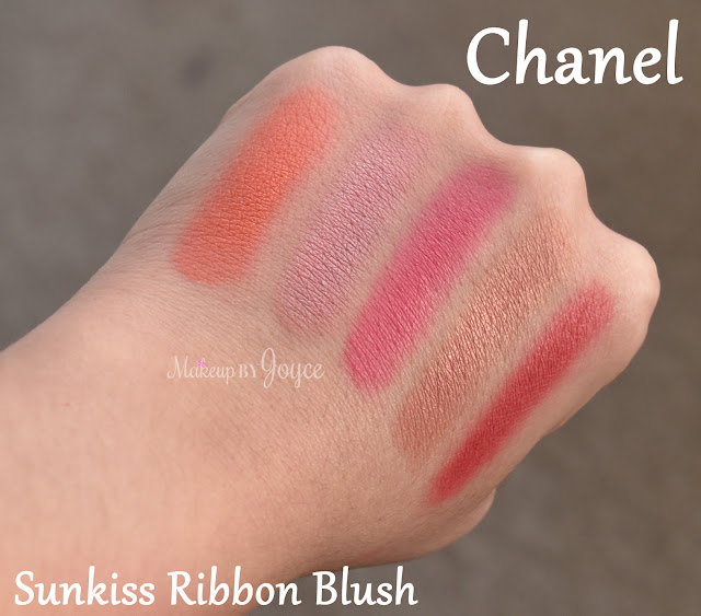 Chanel Sunkiss Ribbon Blush Individual Swatches