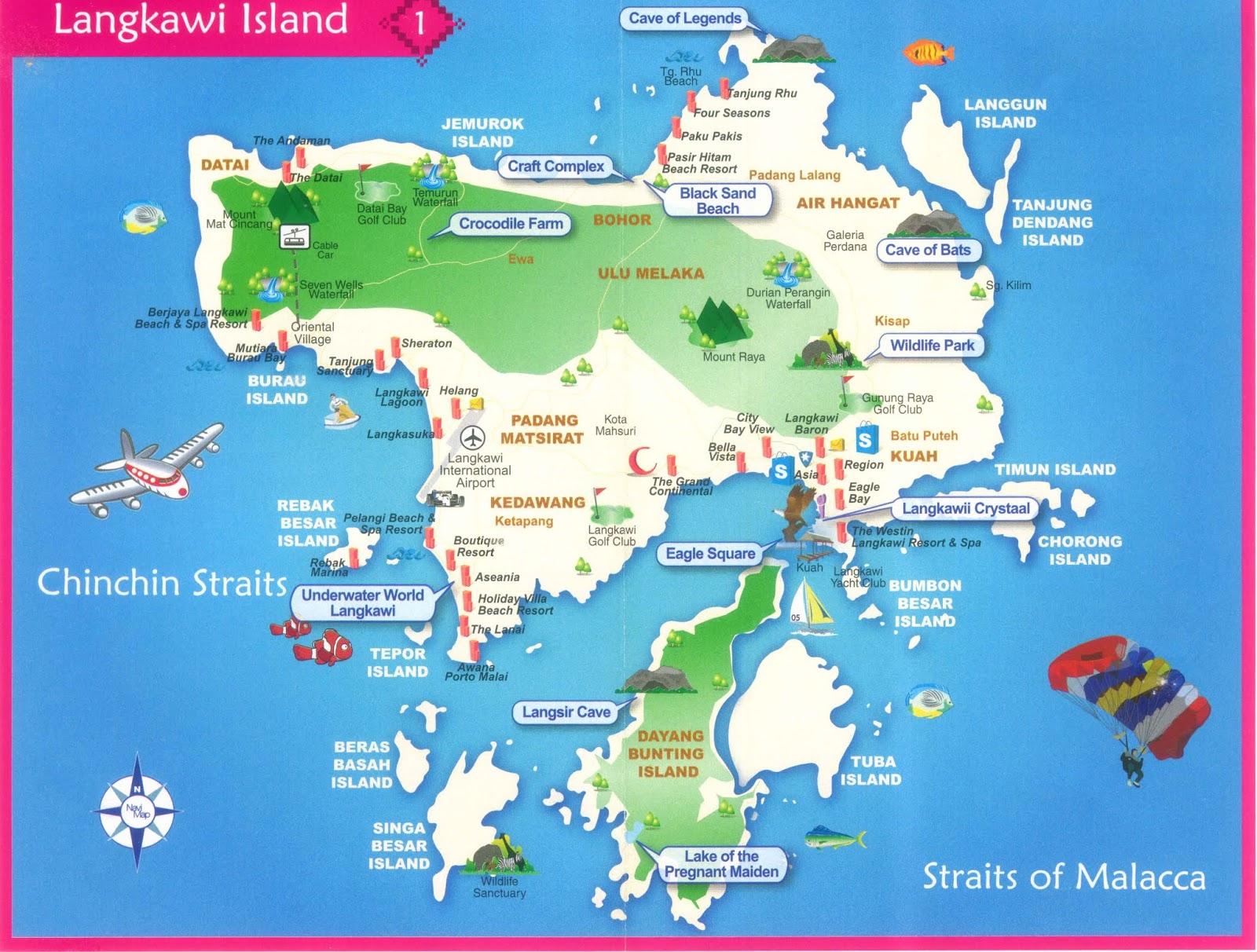 langkawi maps
