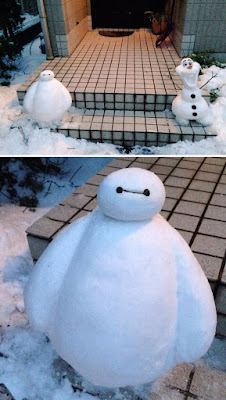 Un gran héroe y Olaf de frozen